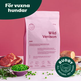 Buddy hundfoder - Wild Venison / Vilt, Hjort