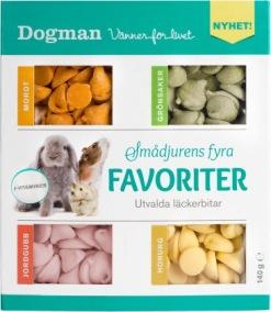 Fyra favoriter - smådjursgodis