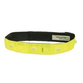 LED Reflexband med kardborrband