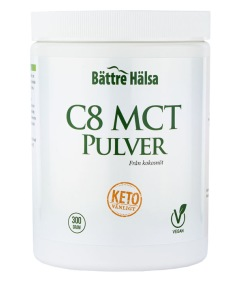 C8 MCT Pulver - Bättre Hälsa
