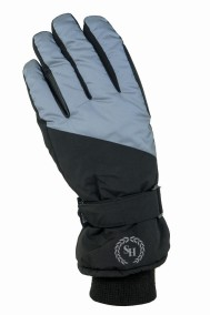 Ridhandske Thermo, 5-finger, Svart/Reflex - HorseSmart