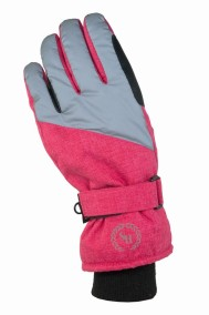 Ridhandske Thermo, 5-finger, Rosa/Reflex - HorseSmart