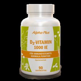 D3-vitamin 1000 IE 90 tab, med apelsinsmak