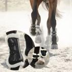 Benskydd med päls 4-pack (senskydd & bakstryckkappor)
