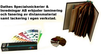 Dathes Specialsnickerier & Inredningar AB - olika typer av laminat som specialval