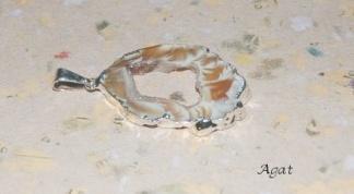 Agat geode hänge