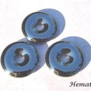 Hematit amulett/donut 30 mm