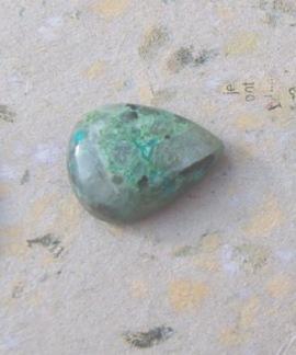 Krysokolla/Azurit polerad sten droppe