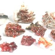 Vanadinit på Baryt (mineral)