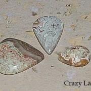 CrazyLace Agat droppar, handpolerad sten