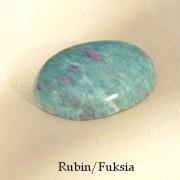 Rubin/Fuchsia oval, handpolerad sten