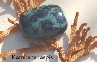 Kambaba Jaspis handpolerad sten