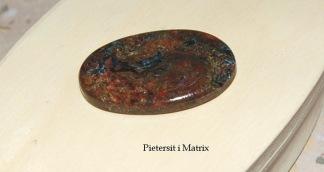 Pietersit i Matrix oval handpolerad sten