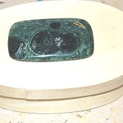 Kambaba handpolerad sten