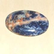 Sodalit handpolerad sten