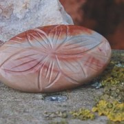 Polychrome Jasper snidad sten 38x22mm