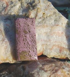 Purpurite polerad sten 36x18mm