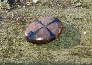 Chiastolit handslipad sten 22mm rund