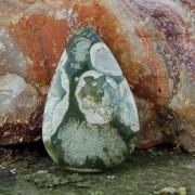 Rhyolit handslipad sten 38x24mm