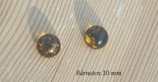 Bärnsten cabochon 10 mm rund, styckpris