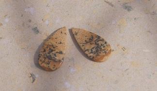 Bild Jaspis cabochon sten 24x12mm, styckpris