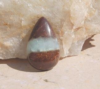 Australiensk Krysopras sten 40x25mm