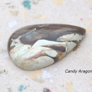 Candy Aragonit sten handpolerad 35x22mm