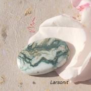 Larsonit Jaspis sten 33x22mm
