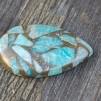 Mosaik koppar Amazonit sten 35x24mm