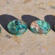 Krysokolla facetterade oval sten 16x12mm, styckpris