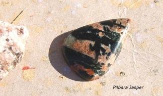 Pilbara Jasper sten flatback 33x23mm