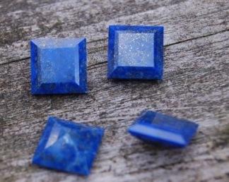 Lapis Lazuli fasetterad 10x10mm, styckpris