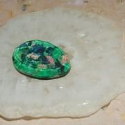 Dubblett handgjord svart Onyx med kvarts och opal, flatback 15,6x22mm