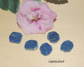 Lapis Lazuli sten slice 10mm, styckpris
