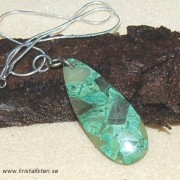 Vacker, Jaspis mosaik sten i halskedja