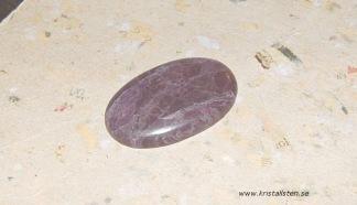 Lavendel Jade sten cab 38x23mm