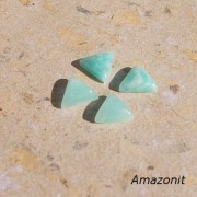 Amazonit sten triangel 10x10mm, styckpris