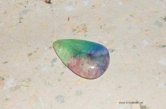Rainbow solar kvarts sten 38x24mm