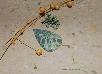 Grön Agat från Sicilien flatback 42x25mm