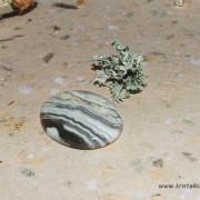 Zebra Lace Agat sten 32x25mm