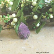 Purpurit drusy sten flatback 35x25mm