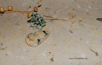 Gul Dendritisk Opal Agat, cabochon