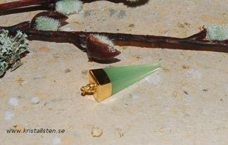 Grön Kalcedon hänge