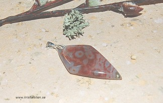 Ocean Jaspis hänge med silverögla