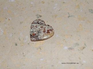 Jaspis sten hjärta 28mm