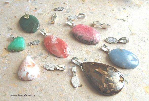 Limma ögla på sten blir jättefint smycke, läs mer i bloggen