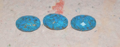Turkos mosaik stenar med koppar inlaga
