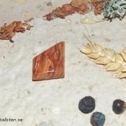 vacker Afrikansk Opal sten 30x20mm