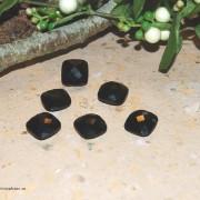 Svart Onyx sten 14x14mm fasetterad, styckpris
