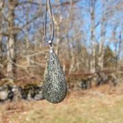 Vacker  Nipomo Markasit sten 50mm med eco läderband